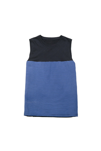 stripe sleeveless