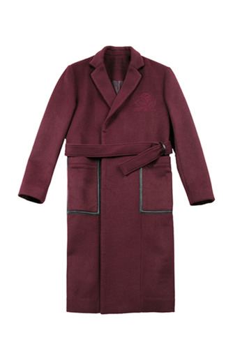 BURGUNDY ROSE COAT