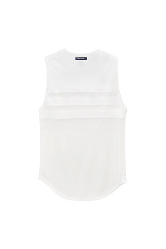 WHITE MESH sleeveless