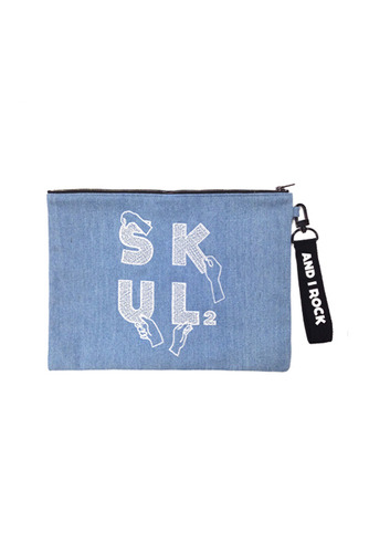 [15 F/W] SKULL HONG DENIM Clutch