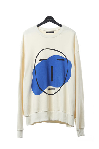 POKER FACE SWEAT SHIRT (IVORY)