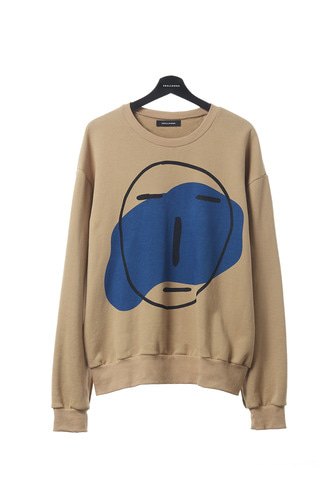 POKER FACE SWEAT SHIRT (LIGHT BROWN)