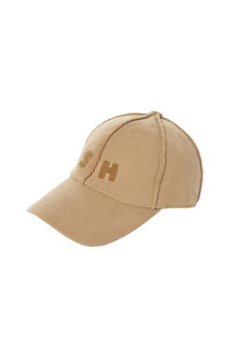 SKULLHONG INITIALS BALL CAP (LIGHT BROWN)
