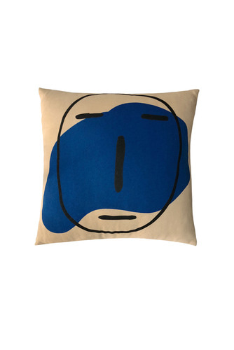 POKER FACE CUSHION (LIGHT BROWN)