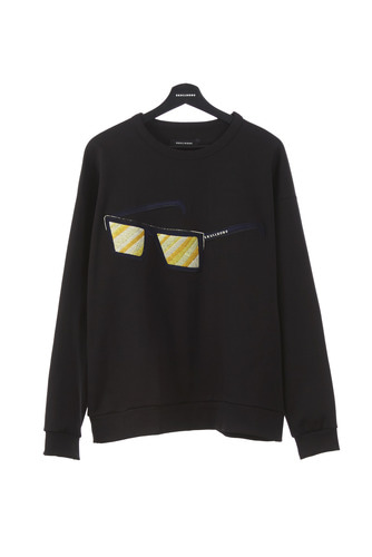 SUNGLASS EMBROIDERY SWEATSHIRT (BLACK)