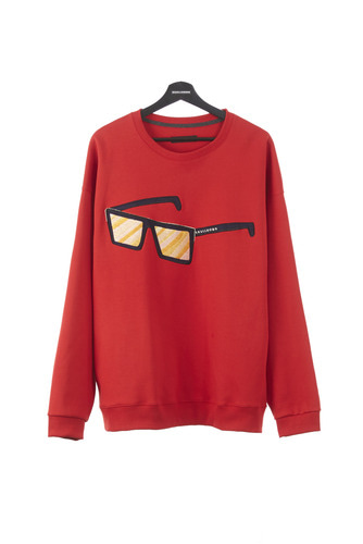 SUNGLASS EMBROIDERY SWEATSHIRT (RED)