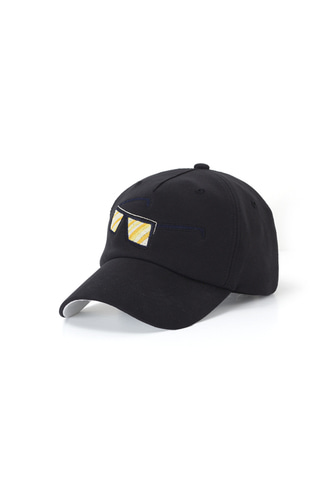 SUNGLASS EMBROIDERY BALL CAP (BLACK)