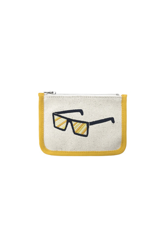 SUNGLASS EMBROIDERY CARD WALLET