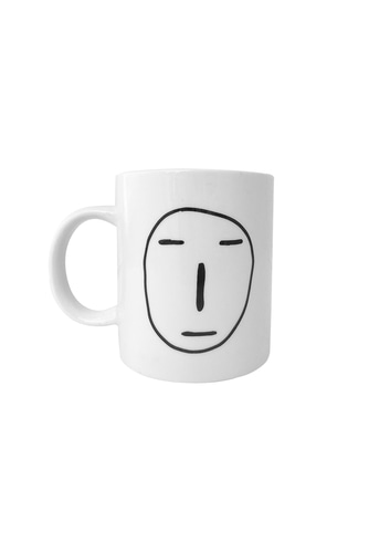 POKER FACE YELLOW MUG CUP
