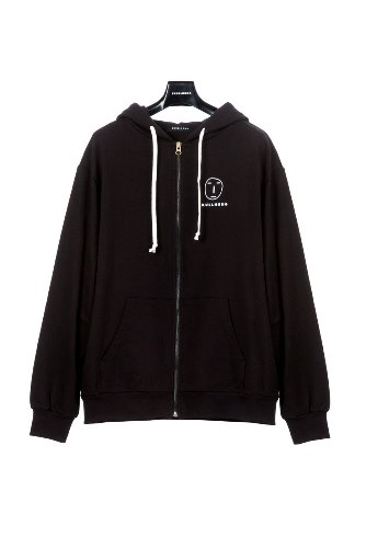 POKER FACE HOODIE ZIP UP (BLACK)