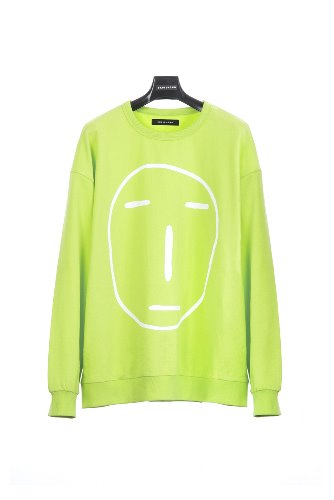 POKER FACE SWEATSHIRT (YELLOW GREEN)