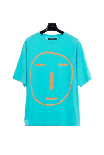 POKER FACE T-SHIRT (BLUE GREEN)